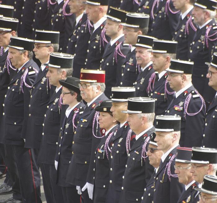 Sapeurs-pompiers à Saint-Étienne