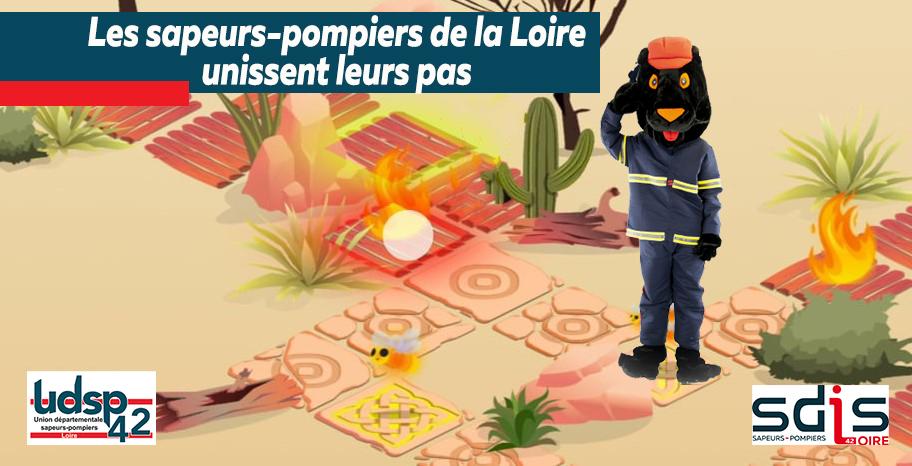 Les sapeurs-pompiers de la Loire unissent leurs Pas